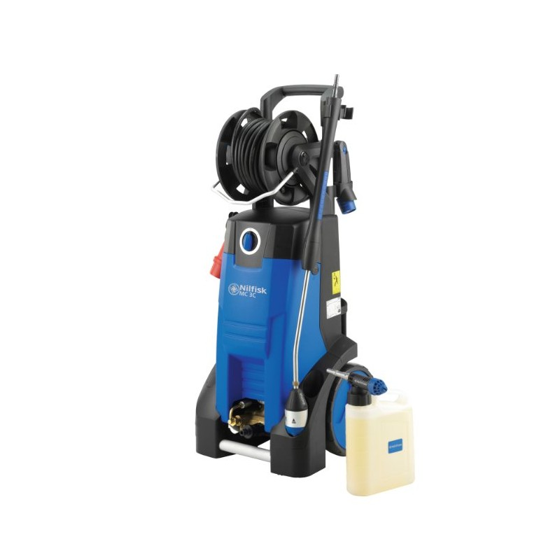 Nilfisk MC 4M 140/620 XT 240v Cold water pressure washer with hose reel