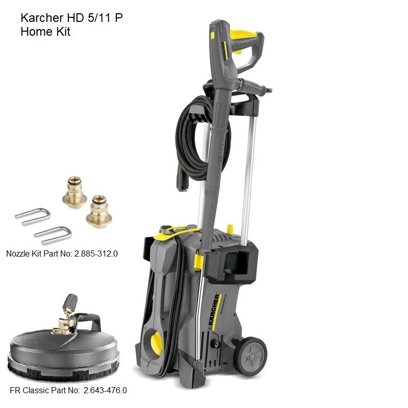 Karcher HD 5/11 P Home Kit 240v Cold Water Pressure Washer, 15209660