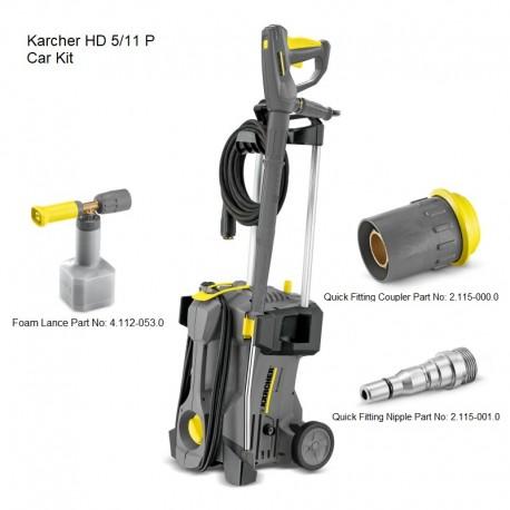 Karcher HD 5/11 P Car Kit 240v Cold Water Pressure Washer, 15209660