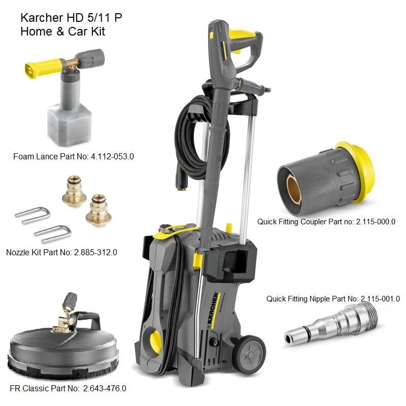 Karcher HD 5/11 P Home & Car Kit 240v Cold Water Pressure Washer, 15209660