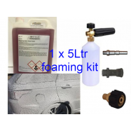 5ltr Non-Caustic Snow Foam-Foam & 1ltr Foaming Bottle Kit for Vehicle cleaning