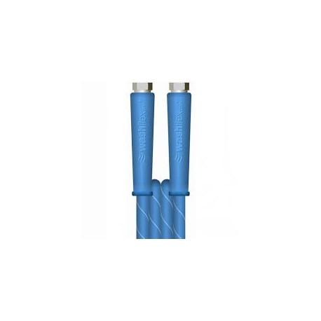 "10m 2 WIRE, 3/8"" 155°C V-TUF BLUE JETWASH 10M with 3/8""F x 3/8""F BSP & Cuffs"